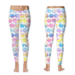 Leggings - Watercolor Citrus