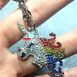Jeweled Unicorn Keychain