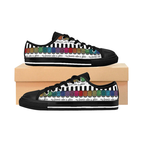 Sneakers - Low Top - My Favorite Color Is Glitter