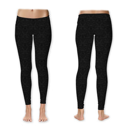 Leggings - Black Damask