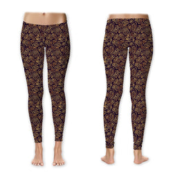 Leggings - Gold on Purple