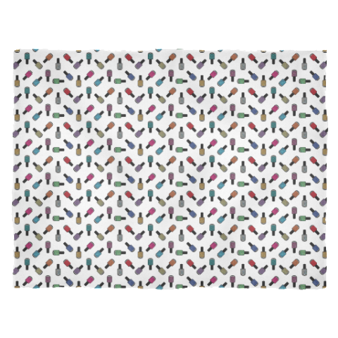 Fleece Blanket - Scattered Bottles on white - Large