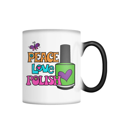 Color Changing Coffee Mug - Peace Love Polish Color Changing Mug