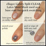 Lickity Split Latex Mani Mask
