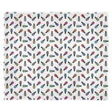 Fleece Blanket - Scattered Bottles on white - Medium