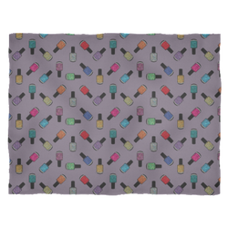 Fleece Blanket - Scattered Bottles on Purple - Small