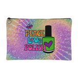Zippered Cosmetic Bag - Peace Love Polish