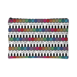 Zippered Cosmetic Bag - My Favorite Color is Glitter