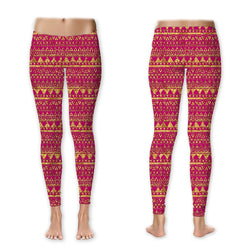 Leggings - Gold on Pink