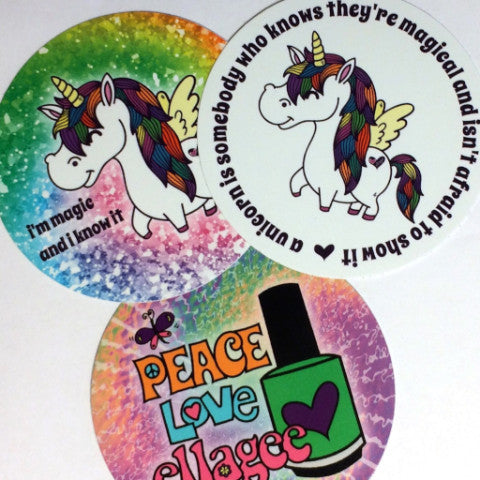 3 pack of ellagee stickers