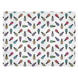 Fleece Blanket - Scattered Bottles on white - Small
