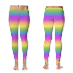 Leggings - Pastel Rainbow Horizontal