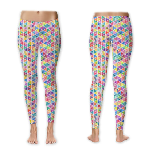 Leggings - Rainbow Geometric