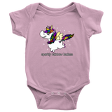 Onesie or Kids' Tee - Sparkly Rainbow Badass