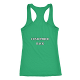 Customized Slim Cut Racerback Tank