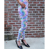 Leggings - Polish Rainbow on Purple with ellagee Logo