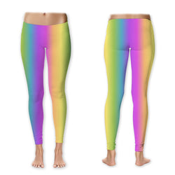 Leggings - Pastel Rainbow Vertical
