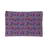 Zippered Cosmetic Bag - Rainbow Bottles