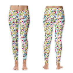 Leggings - Peace Love Butterflies on White