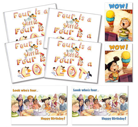 Four is a little, Four is a LOT, Hardback 4 Pack, for four 4 year olds