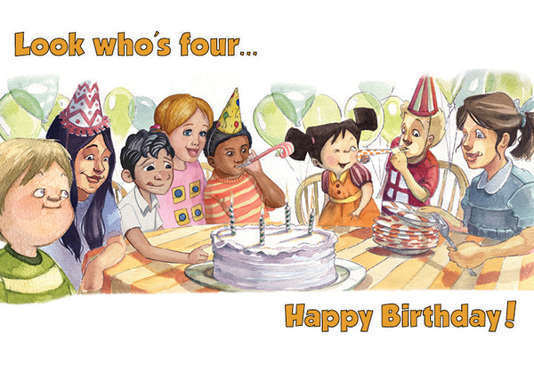 4th Birthday Card, inside