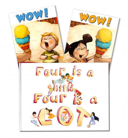 Four is a little, Four is a LOT, Hardback, with 4th Birthday Card
