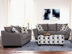 Dove Sofa and Loveseat