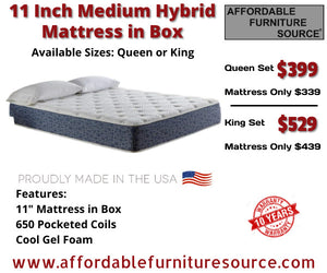CLEARANCE 11 Inch Medium Hybrid Mattress
