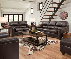 Bark Leather Sofa and Loveseat