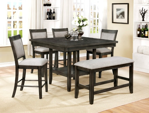 Fulton Pub Dining Set Grey