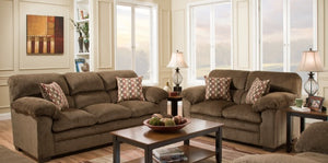 Ash Sofa and Loveseat Chestnut