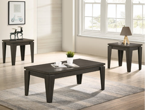 Della Grey Coffee and End Table Occasional Set
