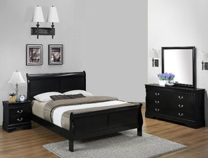 Louis Black 4 Piece Bedroom Set