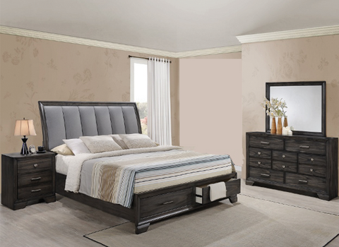 Jaymes Storage Platform 4 Piece Bedroom Set