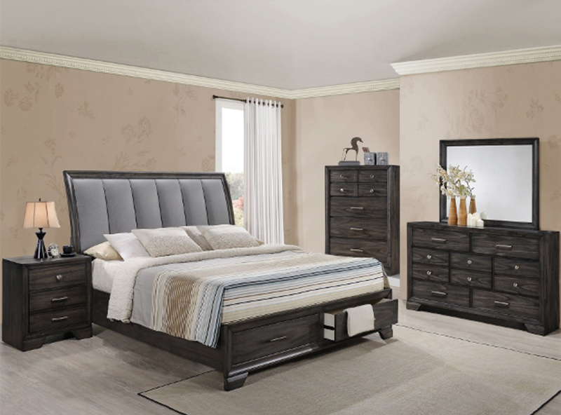 Jaymes Storage Platform 5 Piece Bedroom Set