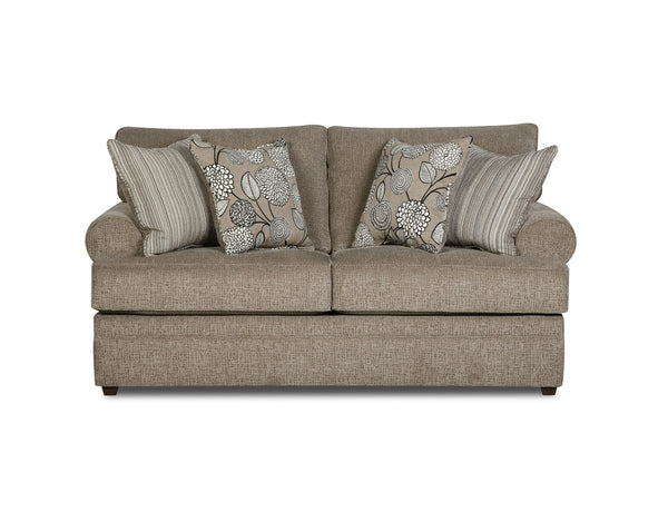 Macy Sofa and Loveseat Pewter
