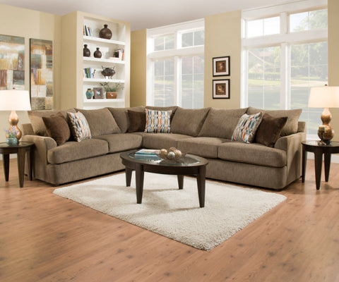 Grandstand Sectional Walnut