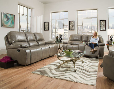 Blackjack Reclining Sofa and Loveseat