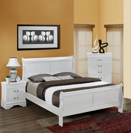 Louis White 3 Piece Bedroom Set
