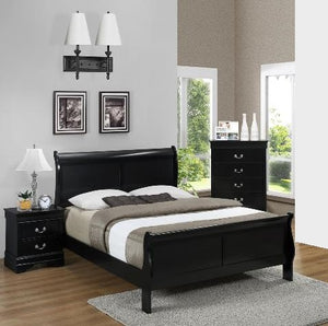Louis Black 3 Piece Bedroom Set
