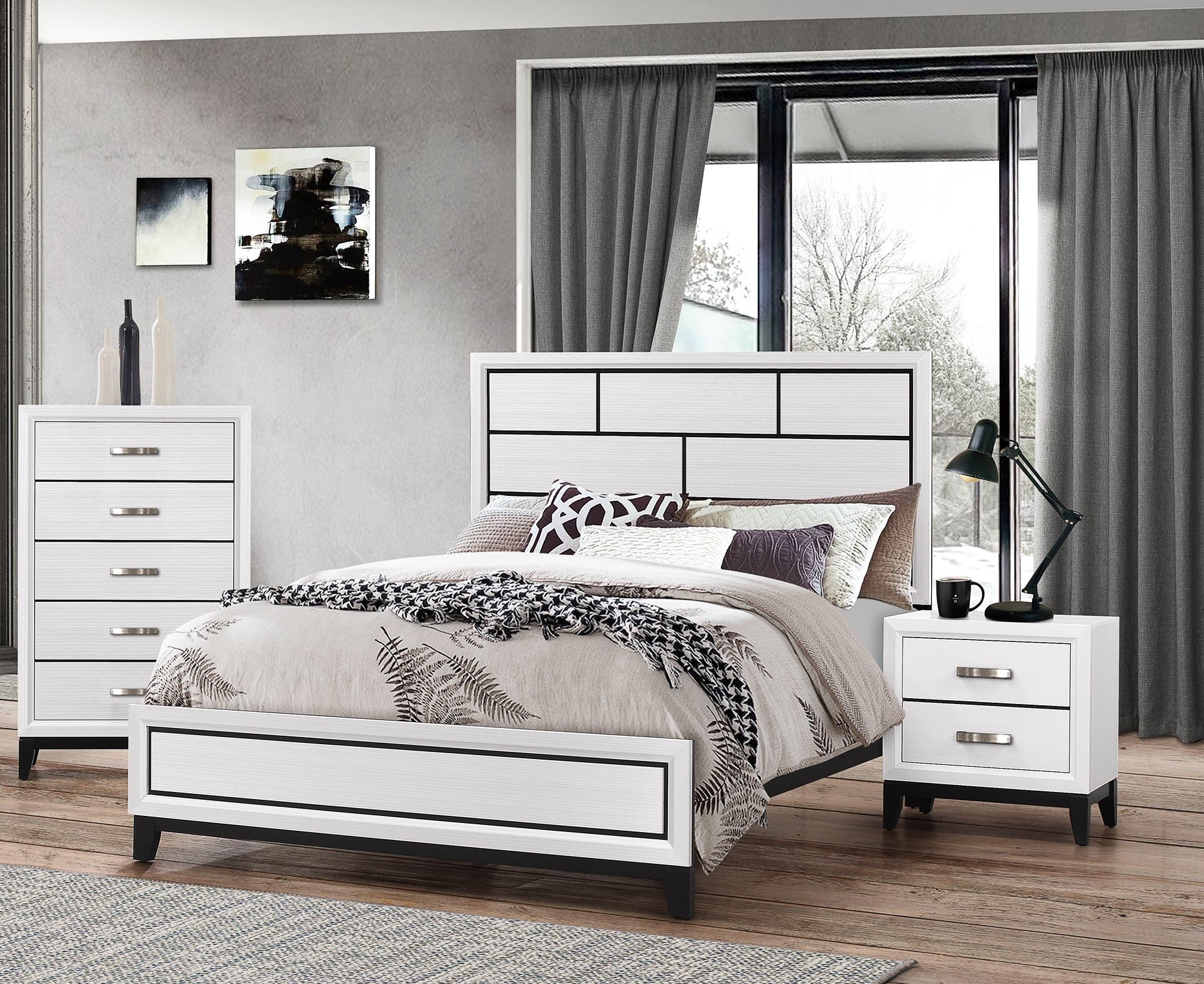 Akerson 3 Piece Bedroom Set White