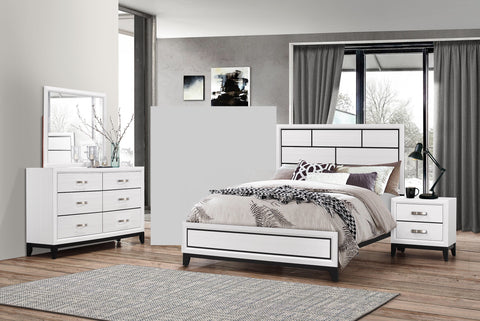 Akerson 4 Piece Bedroom Set White