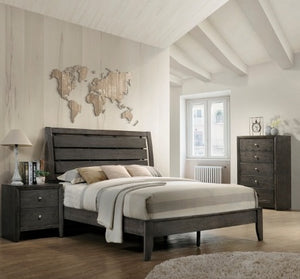 Evan Grey 3 Piece Bedroom Set