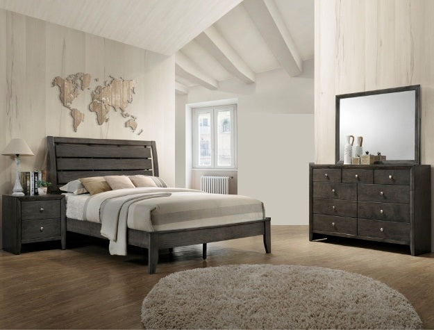Evan Grey 4 Piece Bedroom Set