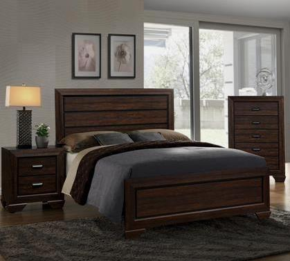 Farrow Brown 3 Piece Bedroom Set