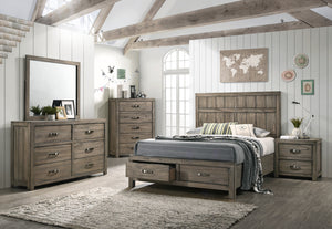 Arcadia Storage Platform 5 Piece Bedroom Set