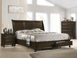 Lara Storage Platform 3 Piece Bedroom Set