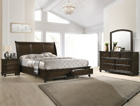 Lara Storage Platform 4 Piece Bedroom Set