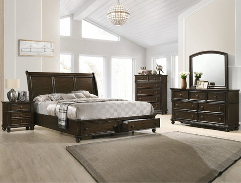 Lara Storage Platform 5 Piece Bedroom Set