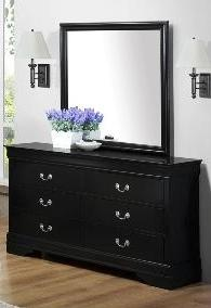 Clearance Black Dresser and Mirror